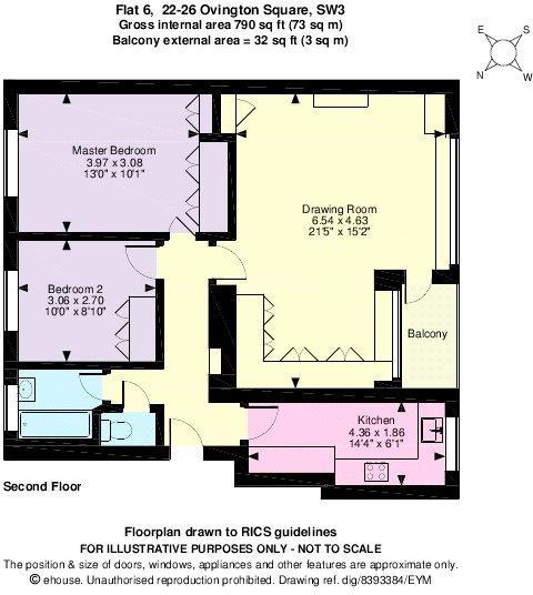 Floorplan 790 Sq Ft