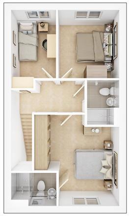 Danbury - Second Floor Plan