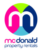 McDonald Property Rentals, Blackpool branch logo