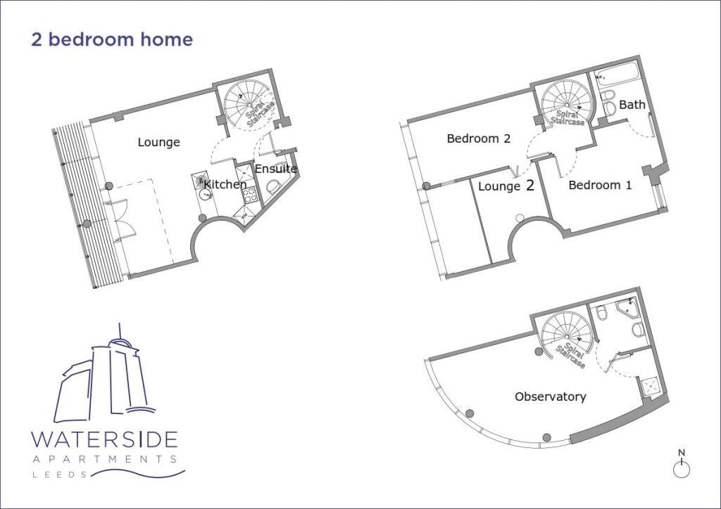 3 bedroom flat for rent in Montague, Waterside Apartments ...