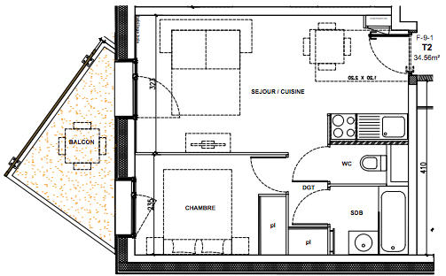 1-bed plan