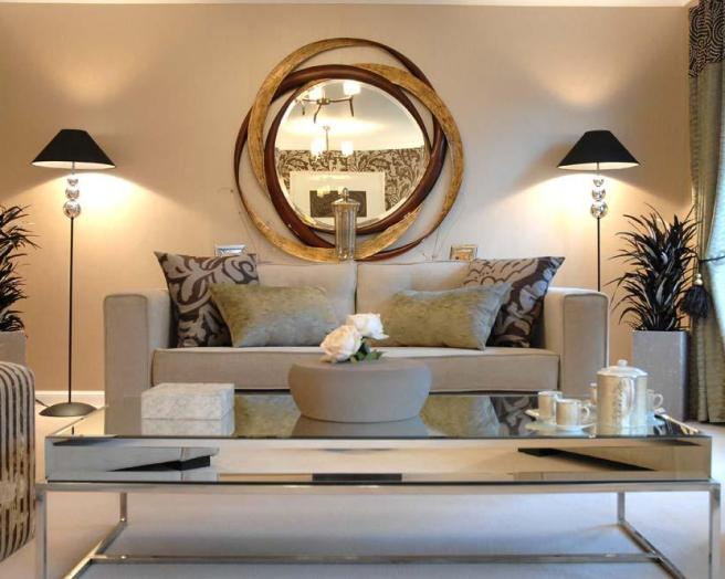 Modern Beige Living Room Design Ideas, Photos ...