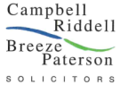 Campbell Riddell Breeze Paterson, Milngavie branch logo