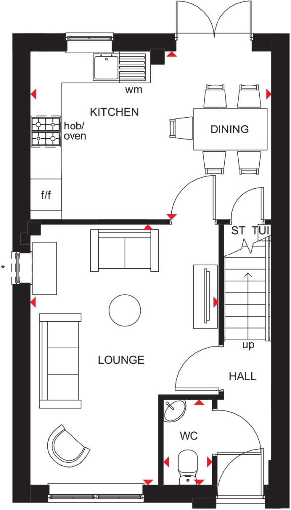 Maidstone ground floor plan