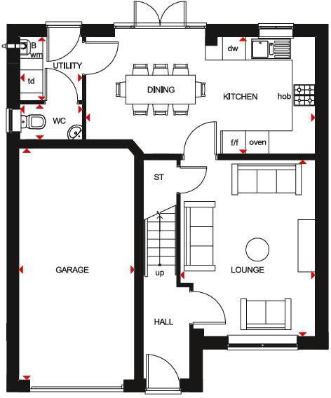 Kennford ground floor plan