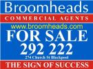 Broomheads Commercial Agents , Blackpool logo