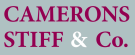 Camerons Stiff & Co, Willesden Green, London, Sales logo