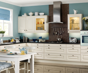 Tiles Kitchen Design Ideas, Photos & Inspiration | Rightmove Home - Blue Range Cooker White Cabinet