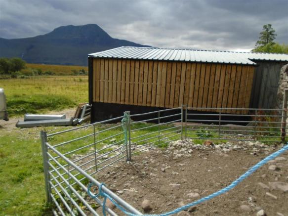 Rear of hay shed