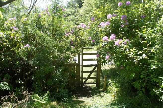 Gdn gate onto Braes