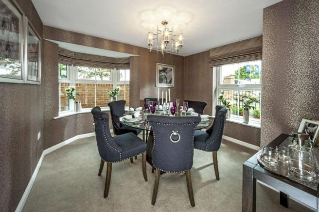 Typical dining room image by Ward Homes, Sholden Fields, Deal