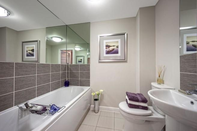 Typical bathroom image by Ward Homes, Sholden Fields, Deal