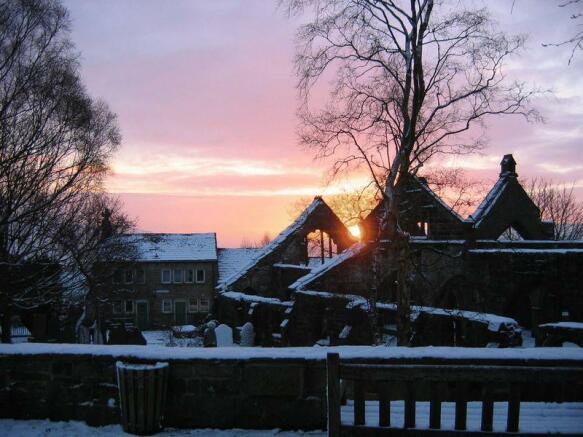 Church Yard Sunset
