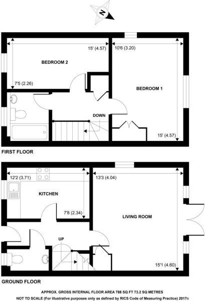 2 Bed Floorplan - Example