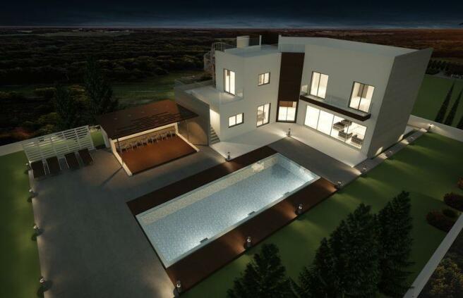 Villa by night...
