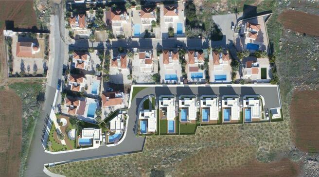 Villa plot view