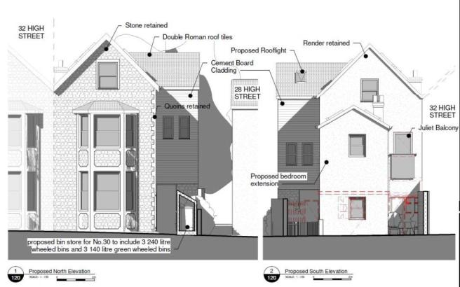FLAT SCHEME - SOUTH AND NORTH ELEVATION PROPOSED.j