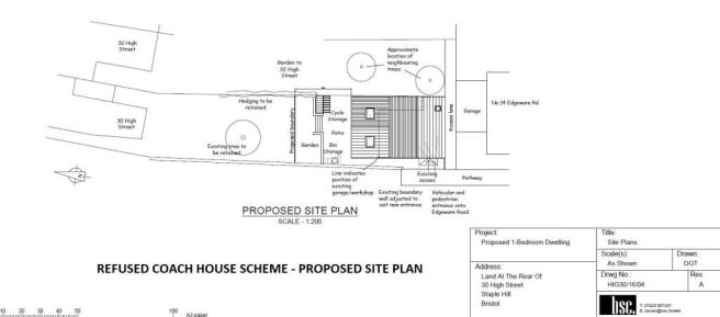 REFUSED COACH HOUSE SCHEME - PROPOSED SITE PLAN.jp