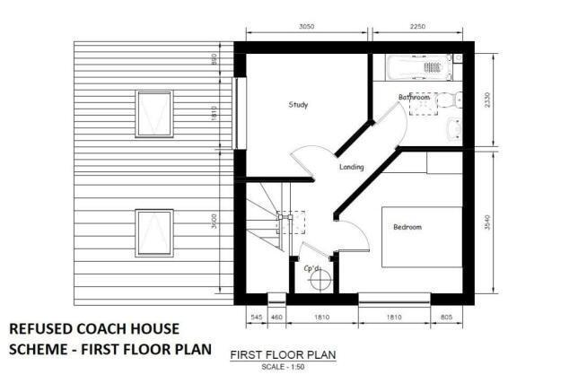 REFUSED COACH HOUSE SCHEME - FIRST FLOOR PLAN.jpg