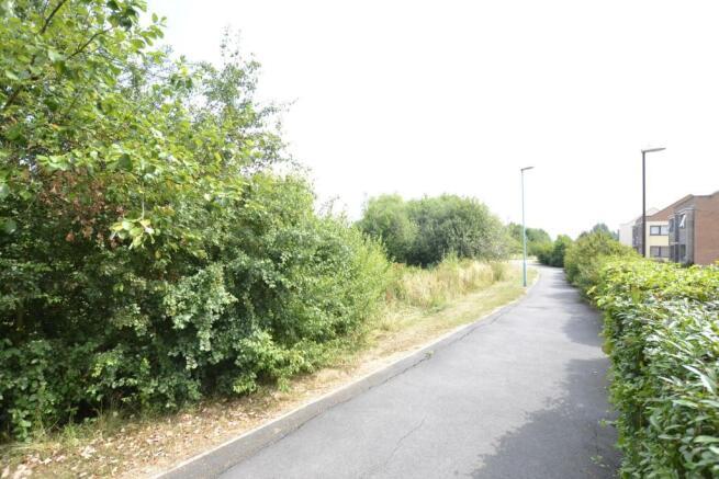 View along road