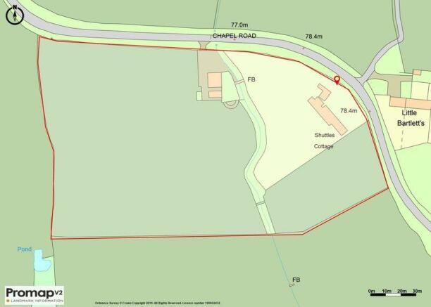 Plan showing land