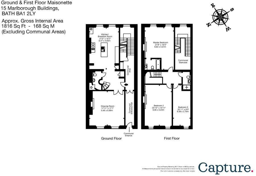 3 bedroom maisonette for sale in Marlborough Buildings Bath BA1 BA1 – Marlborough House Floor Plan