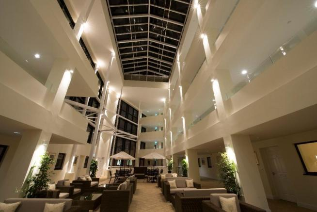 Atrium at nightfall