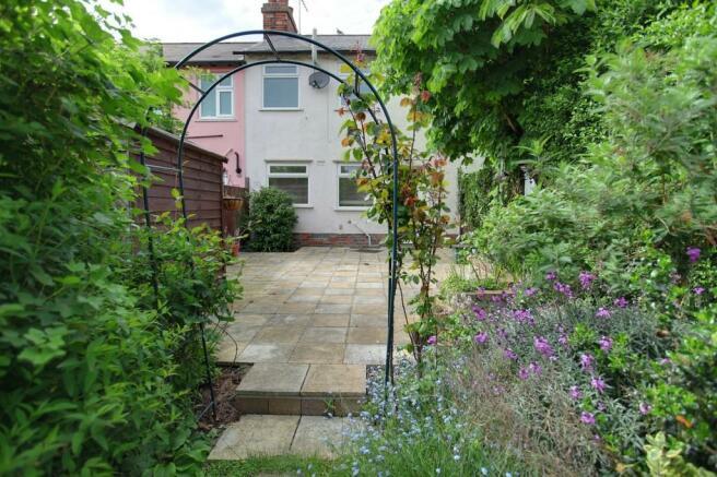 Pretty garden and...