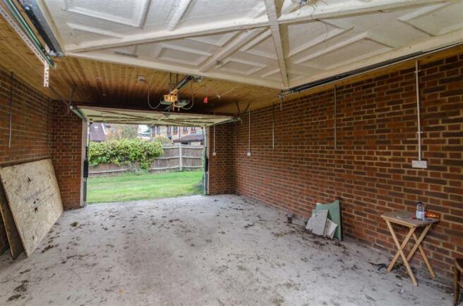 Brick built garage with rear access
