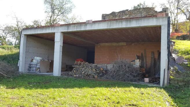 Garage under terrace