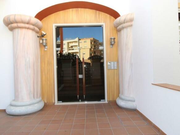 Building's main door