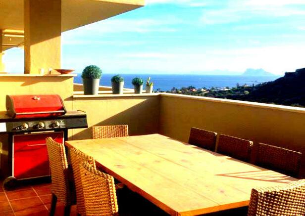 Terrace view to Gib