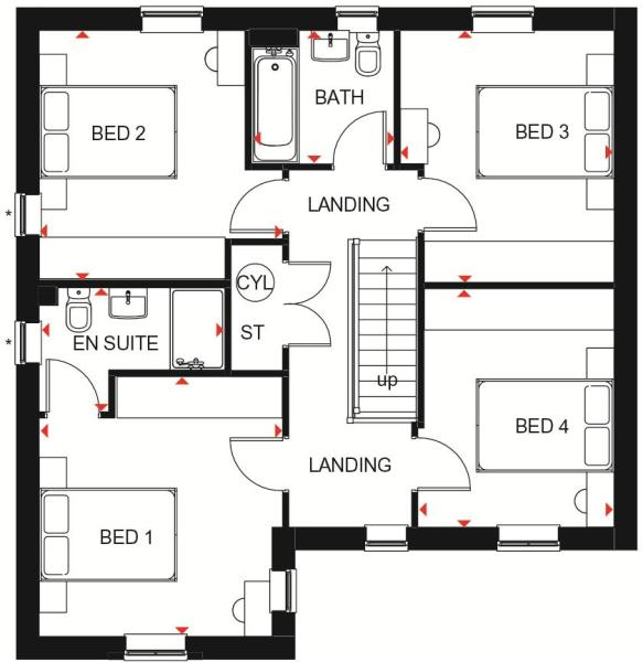 Halton first floor plan