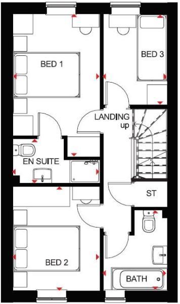 Folkestone first floor plan