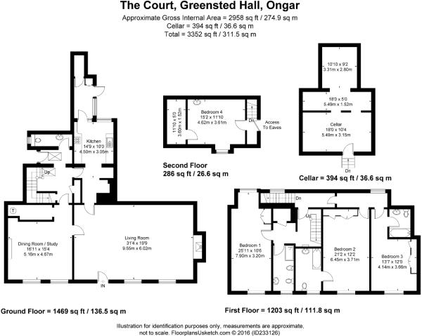 Floor Plan incl Cellar