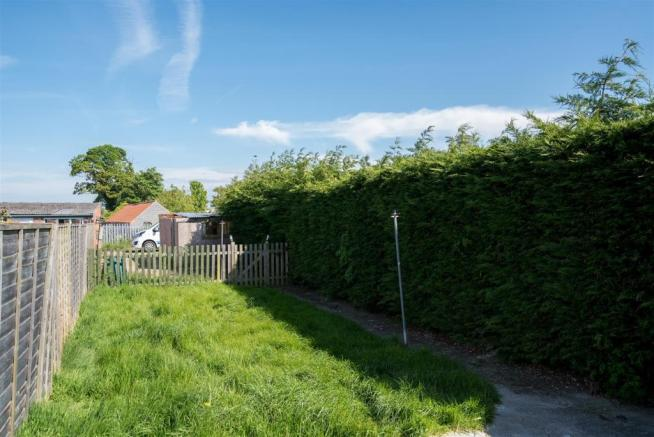 Rear Garden with off-road parking to rear