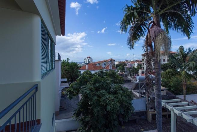 Balcony facing west