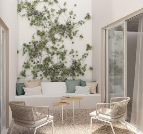 Apartamento- patio -