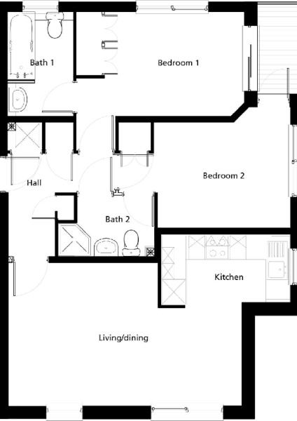 Flat 36 Weymouth House - Floor Plan copy.pdf