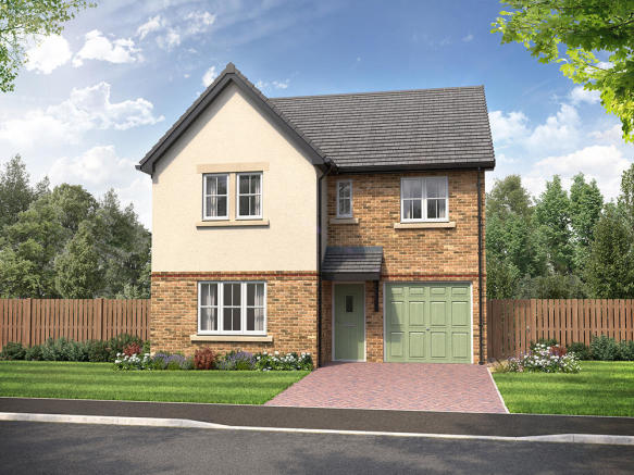 External CGI of 4-bedroom Sanderson