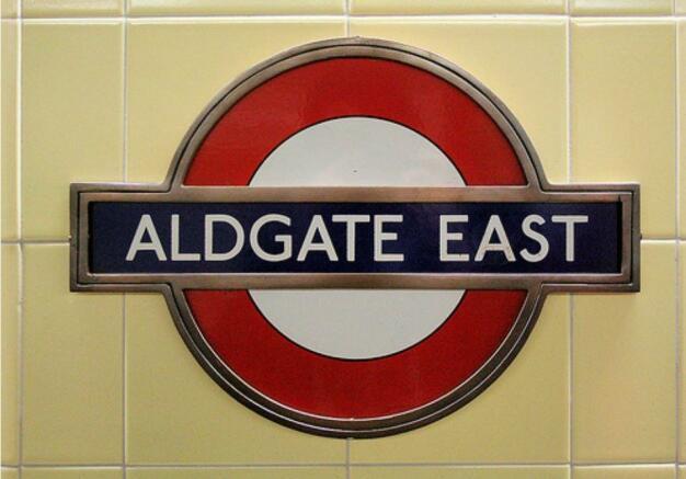 Aldgate Tube Sign