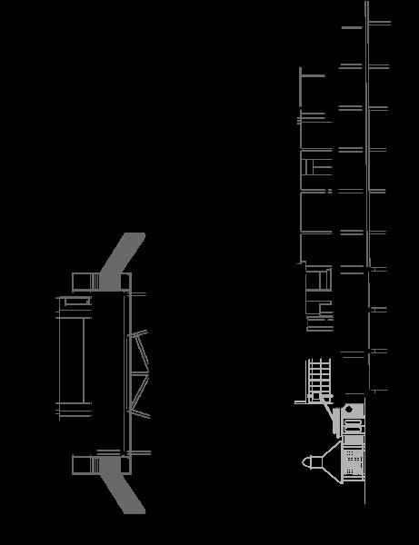 Section through pier
