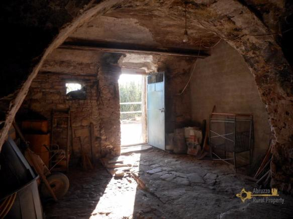 Cellar exposed stone
