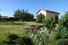 The garage and garden