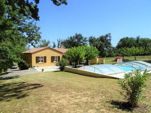 The house with the pool
