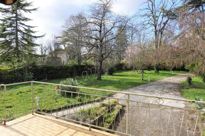 The garden, view from the terrace