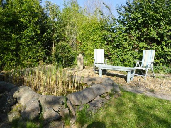 Gravel patio area