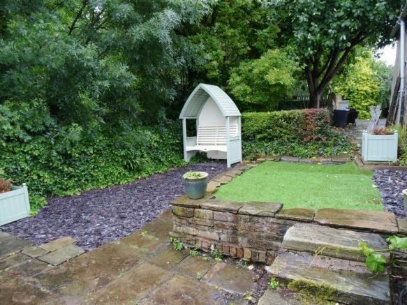 Slate garden area