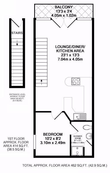 Upper Deck Floorplan