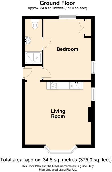 1 bed 1st floor
